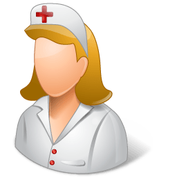 Medical Nurse Female Light Sticker