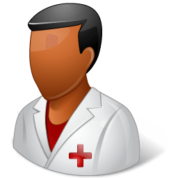Medical Nurse Male Dark Sticker