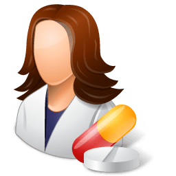 Medical Pharmacist Female Light Sticker