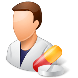Medical Pharmacist Male Light Sticker