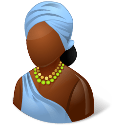 Nations African Female Sticker