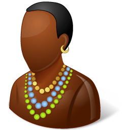 Nations African Male Sticker