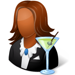 Occupations Bartender Female Dark Sticker
