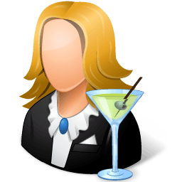 Occupations Bartender Female Light Sticker