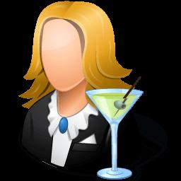 Occupations Bartender Female Light Sticker