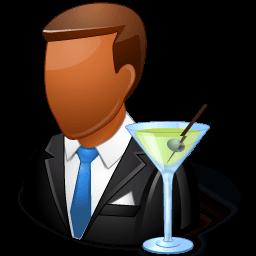 Occupations Bartender Male Dark Sticker