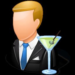 Occupations Bartender Male Light Sticker