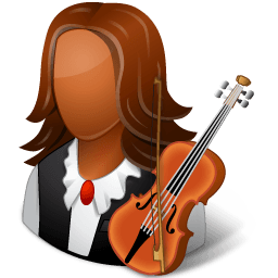 Occupations Musician Female Dark Sticker