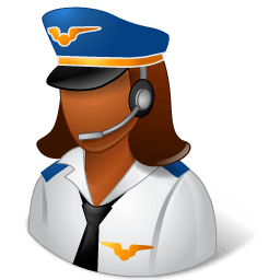 Occupations Pilot Female Dark Sticker