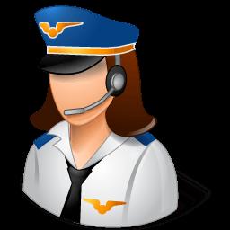 Occupations Pilot Female Light Sticker