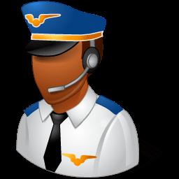 Occupations Pilot Male Dark Sticker