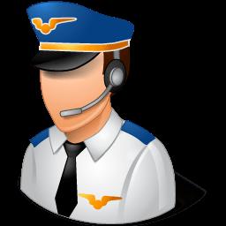 Occupations Pilot Male Light Sticker