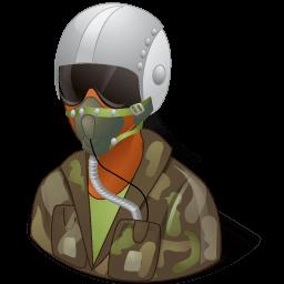 Occupations Pilot Military Female Dark Sticker