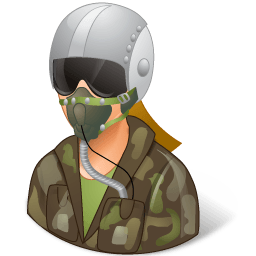 Occupations Pilot Military Female Light Sticker