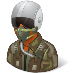 Occupations Pilot Military Male Dark Sticker