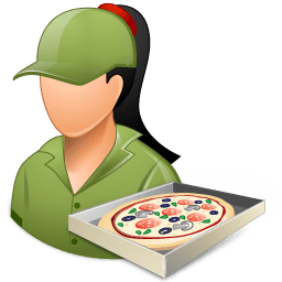 Occupations Pizza Deliveryman Female Light Sticker