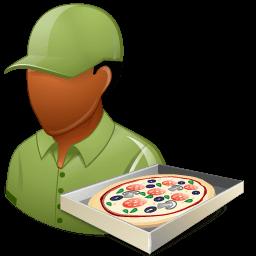 Occupations Pizza Deliveryman Male Dark Sticker