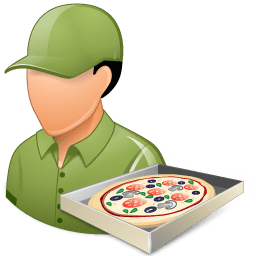 Occupations Pizza Deliveryman Male Light Sticker