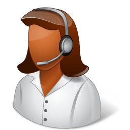 Occupations Technical Support Representative Female Dark Sticker
