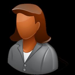 Office Client Female Dark Sticker