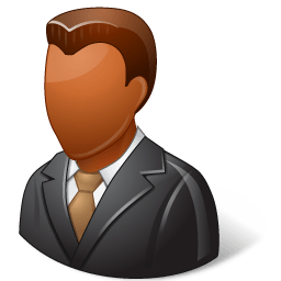 Office Client Male Dark Sticker