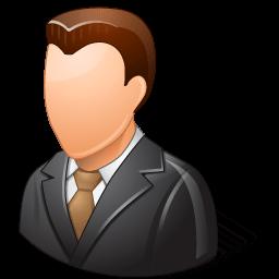 Office Client Male Light Sticker