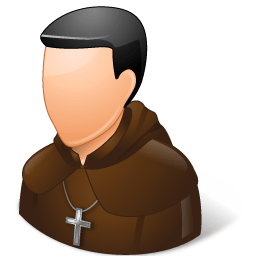 Religions Catholic Monk Sticker