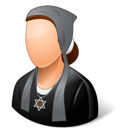 Religions Jew Female Sticker