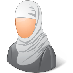 Religions Muslim Female Sticker