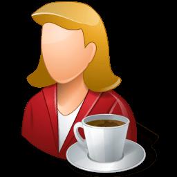 Rest Person Coffee Break Female Light Sticker