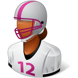 Sport Football Player Female Dark Sticker