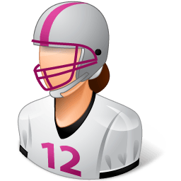 Sport Football Player Female Light Sticker