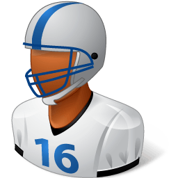 Sport Football Player Male Dark Sticker