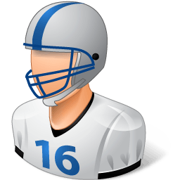 Sport Football Player Male Light Sticker
