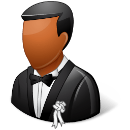 Wedding Groom Dark Sticker