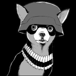 Army Chihuahua Sticker