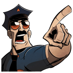 Axe Cop Point Sticker