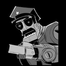 Robot Axe Cop Sticker