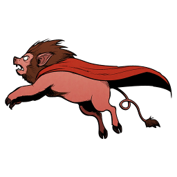 Super Lion Pig Sticker