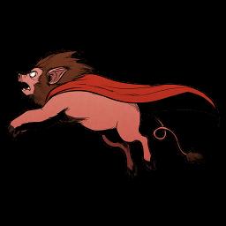 Super Lion Pig Sticker