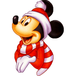 Mickey Christmas Sticker