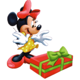 Minnie Christmas Sticker