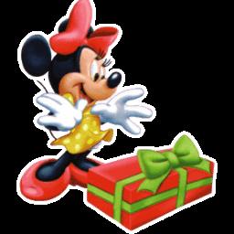 Minnie Christmas Sticker