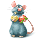 Ratatouille Remy Eating Sticker