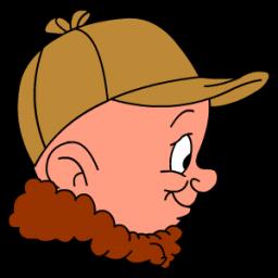 Elmer Fudd Hunting Sticker