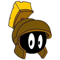 Marvin Martian Bronze Sticker