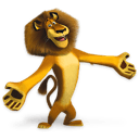 Madagascar Alex Sticker