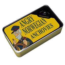 Futurama Angry Norwegian Anchovies Sticker