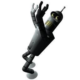 Futurama Bender 1 Sticker