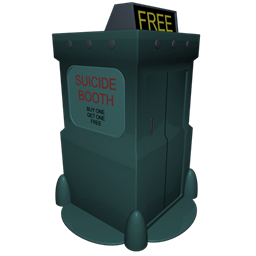 Futurama Suicide Booth Sticker